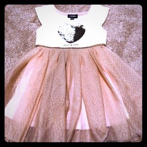 Zunie heart sequins dress size 3T